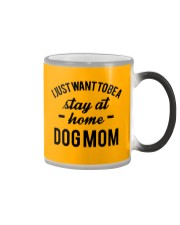 I JUST WANT TO BE A STAY AT HOME DOG MOM Color Changing Mug color-changing-right