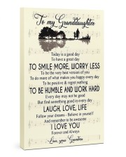 To My Granddaughter From Grandma 24x36 Gallery Wrapped Canvas Prints front