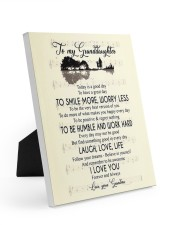 To My Granddaughter From Grandma Easel-Back Gallery Wrapped Canvas tile
