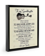To My Granddaughter From Grandma 11x14 Black Floating Framed Canvas Prints thumbnail