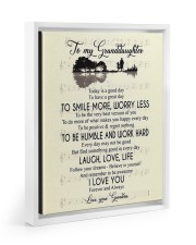 To My Granddaughter From Grandma Floating Framed Canvas Prints White tile