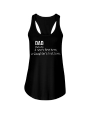 DAD A SON'S FIRST HERO A DAUGHTER'S FIRST LOVE Ladies Flowy Tank thumbnail