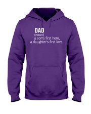 DAD A SON'S FIRST HERO A DAUGHTER'S FIRST LOVE Hooded Sweatshirt front