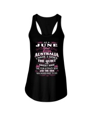 AS A JUNE GIRL BORN IN AUSTRALIA Ladies Flowy Tank tile