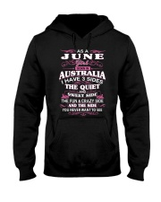 AS A JUNE GIRL BORN IN AUSTRALIA Hooded Sweatshirt front