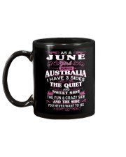 AS A JUNE GIRL BORN IN AUSTRALIA Mug back