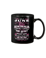 AS A JUNE GIRL BORN IN AUSTRALIA Mug thumbnail