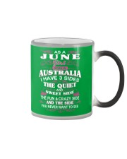 AS A JUNE GIRL BORN IN AUSTRALIA Color Changing Mug color-changing-right