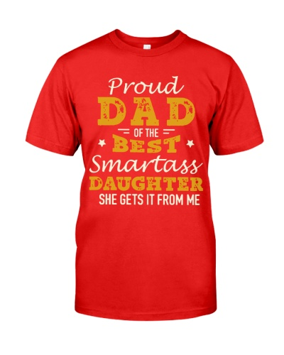 PROUD DAD SMARTASS DAUGHTER
