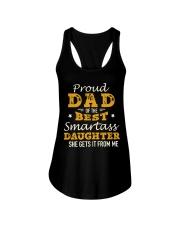 PROUD DAD SMARTASS DAUGHTER Ladies Flowy Tank thumbnail