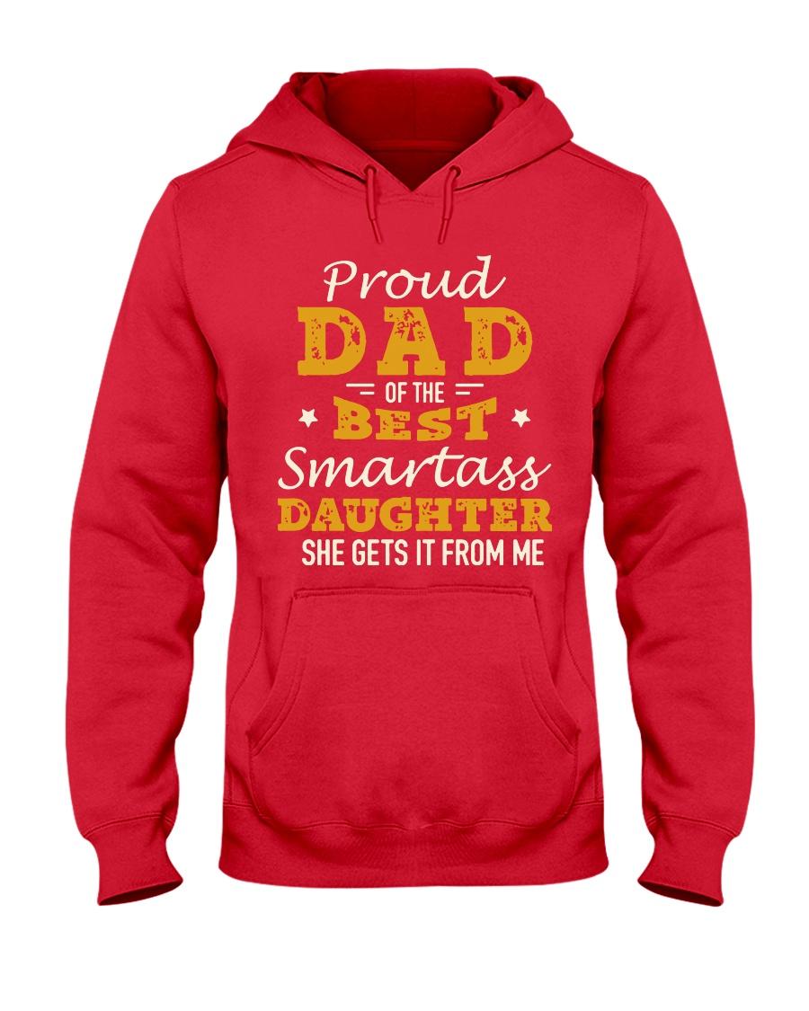 PROUD DAD SMARTASS DAUGHTER Hooded Sweatshirt