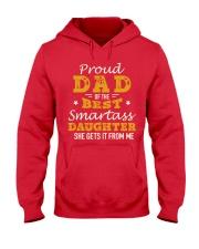 PROUD DAD SMARTASS DAUGHTER Hooded Sweatshirt front