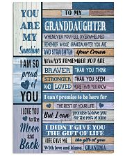 To My Granddaughter From Grandma 11x17 Poster front