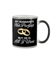 My Husband's Not Perfect But he Is All I Want Color Changing Mug thumbnail