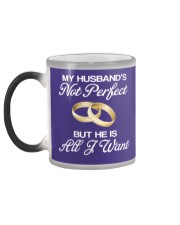 My Husband's Not Perfect But he Is All I Want Color Changing Mug color-changing-left