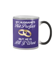My Husband's Not Perfect But he Is All I Want Color Changing Mug color-changing-right