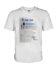 TO MY SON I LOVE YOU V-Neck T-Shirt thumbnail