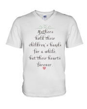 MOTHERS HOLD THEIR CHILDREN'S HANDS FOR A WHILE  V-Neck T-Shirt thumbnail