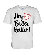 HEY BATTER BATTER V-Neck T-Shirt front