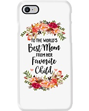 TO THE WORLD'S BEST MOM FROM HER FAVORITE CHILD Phone Case thumbnail