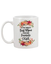 TO THE WORLD'S BEST MOM FROM HER FAVORITE CHILD Mug back
