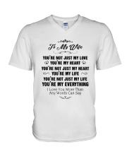 TO MY WIFE V-Neck T-Shirt thumbnail