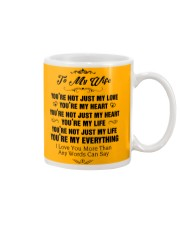 TO MY WIFE Mug front