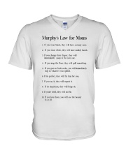 MURPHY'S LAW FOR MOMS V-Neck T-Shirt thumbnail