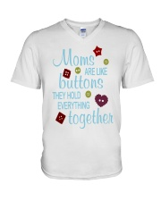 MOMS ARE LIKE BUTTONS THEY HOLD EVERYTHING V-Neck T-Shirt thumbnail