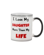 I LOVE MY DAUGHTER MORE THAN MY LIFE Color Changing Mug tile