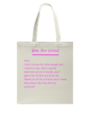 YOU ARE LOVED Tote Bag front