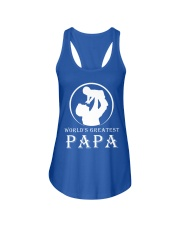 WORLDS GREATEST PAPA Ladies Flowy Tank front