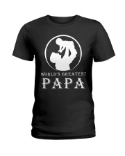 WORLDS GREATEST PAPA Ladies T-Shirt thumbnail