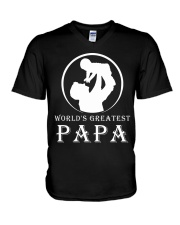 WORLDS GREATEST PAPA V-Neck T-Shirt thumbnail