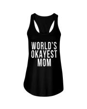 WORLD'S OKAYEST MOM Ladies Flowy Tank thumbnail