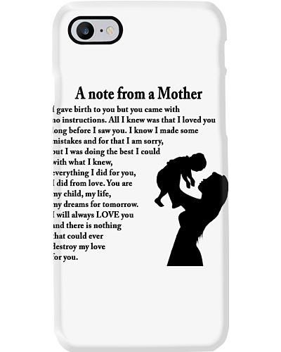 A NOTE FROM A MOTHER