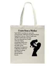 A NOTE FROM A MOTHER Tote Bag thumbnail