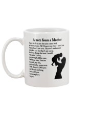 A NOTE FROM A MOTHER Mug back