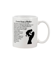 A NOTE FROM A MOTHER Mug front