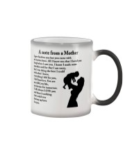 A NOTE FROM A MOTHER Color Changing Mug thumbnail