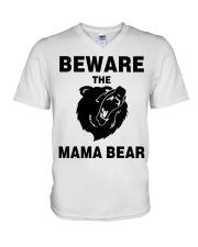 BEWARE THE MAMA BEAR V-Neck T-Shirt thumbnail