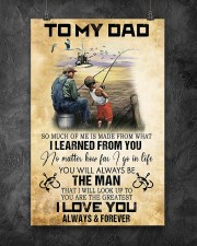 To My Dad From Son 11x17 Poster aos-poster-portrait-11x17-lifestyle-12