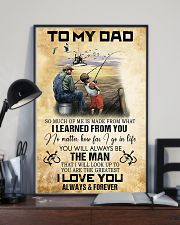 To My Dad From Son 11x17 Poster lifestyle-poster-2