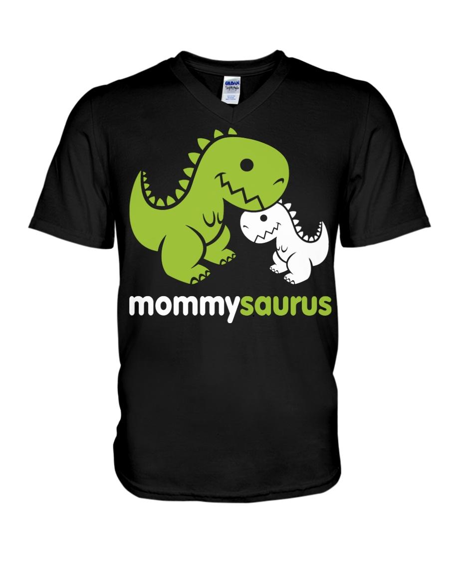 MOMMYSAURUS V-Neck T-Shirt