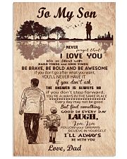 To My Son From Dad 11x17 Poster front