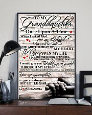 To My Granddaughter From Grandma 11x17 Poster lifestyle-poster-2