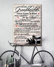 To My Granddaughter From Grandma 11x17 Poster lifestyle-poster-7