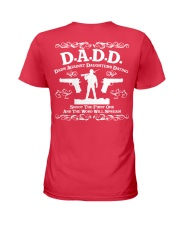 DADD DAD'S AGAINST DAUGHTERS DATING Ladies T-Shirt back