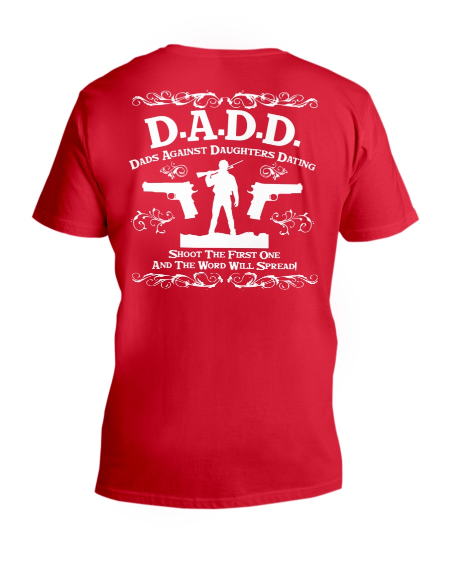 DADD DAD'S AGAINST DAUGHTERS DATING V-Neck T-Shirt