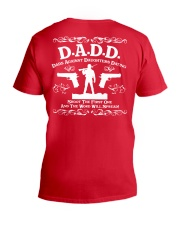 DADD DAD'S AGAINST DAUGHTERS DATING V-Neck T-Shirt back